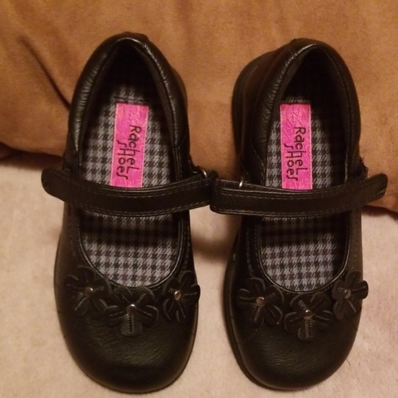 New Rachel Girls Shoes Toddler Black Patent Dress Shoes Sizes 6 to 11